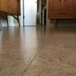 Beautiful cork floors in main living area.