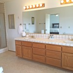 Dual-sink vanity in Master Bath