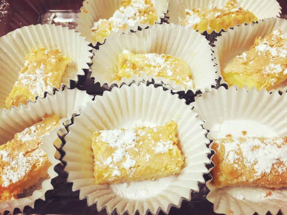 Lemon Squares with Olive Oil & Sea Salt